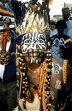 picture of african warrior at festival practical poets by ralph samuel